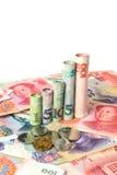 Chinesische Währung, die ein Diagramm bildet Stockbild