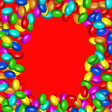 Chocolate candies frame (AI format available) Royalty Free Stock Images