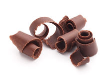 Chocolate curls Royalty Free Stock Photo