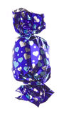 Chocolate in Wrapper Isolated Royalty Free Stock Photos