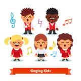 Choeur du chant d'enfants Garçons et filles Photographie stock libre de droits