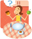 Choice of meal Royalty Free Stock Photography