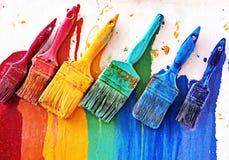 Choosing colors Royalty Free Stock Image