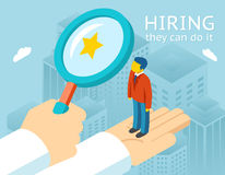 Choosing person for hiring Stock Photography