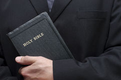 Christian Holding Holy Bible Good Book Religion Royalty Free Stock Photo