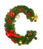 Christmas Alphabet Letter C Stock Images