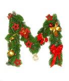 Christmas Alphabet Letter M Royalty Free Stock Photos