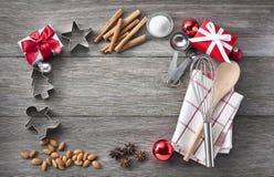 Christmas Baking Frame Background Royalty Free Stock Image