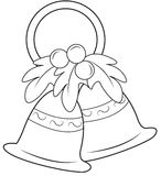 Christmas bells coloring page Royalty Free Stock Images