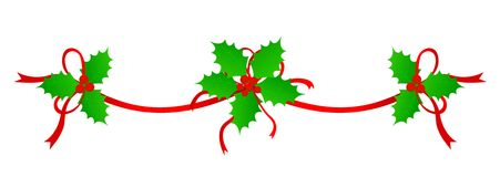 Christmas Holly Divider / Border Stock Image - Image: 11758471