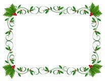 Christmas Border Holly ornamental Royalty Free Stock Image