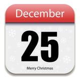 Christmas Calendar Date Royalty Free Stock Photo