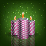 Christmas cangle green background eps 10  Stock Photography