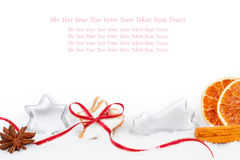 Christmas card, baking recipe, Gift Certificate Stock Photo