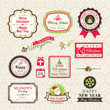 Christmas Collection of labels and frames design elements Royalty Free Stock Photo