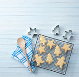 Christmas Cookies Baking Background Royalty Free Stock Image