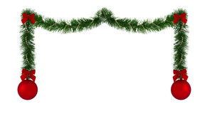 Christmas decoration border Royalty Free Stock Image