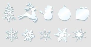 Christmas decoration elements Stock Images