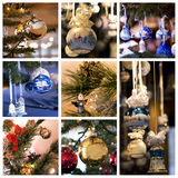 Christmas decorations collage Royalty Free Stock Image