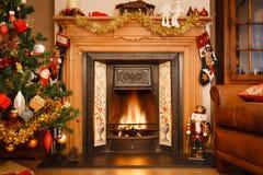 Christmas fireplace Stock Image