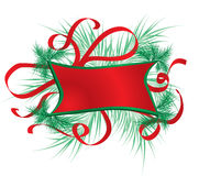 Christmas frame with a fur-tree, vector Royalty Free Stock Photos