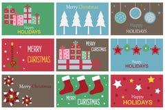 Christmas gift cards Stock Photo