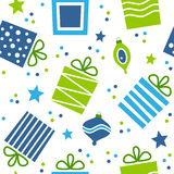 Christmas Gifts Seamless Pattern Stock Images