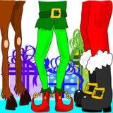 Christmas legs Stock Photo