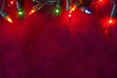 Christmas lights border Stock Photography