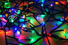 Christmas lights wire Stock Photo