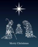 Christmas Nativity Greeting Card Royalty Free Stock Photo