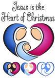 Christmas Nativity Heart/eps Stock Photo