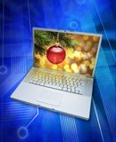 Christmas Online Computer Shopping Royalty Free Stock Photography