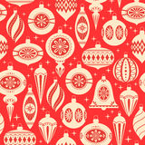 Christmas ornaments pattern Royalty Free Stock Image