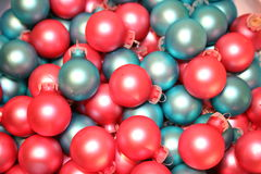 Christmas Ornaments Pink Blue Royalty Free Stock Photos