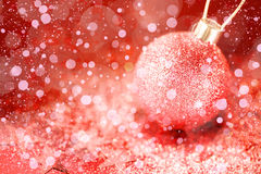 Christmas Ornaments with Pink Stardust Stock Photos