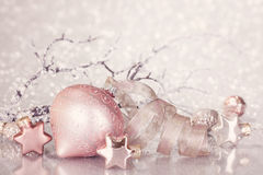 Christmas pink decoration Stock Images