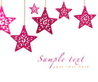 Christmas red stars Royalty Free Stock Photos