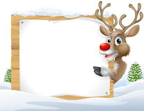 Christmas reindeer Sign Royalty Free Stock Images