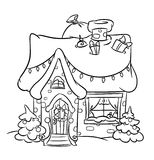 Christmas Snow House Royalty Free Stock Photography