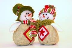 Christmas snowmen Stock Images