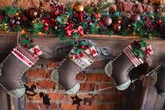 Christmas socks gift Stock Photo