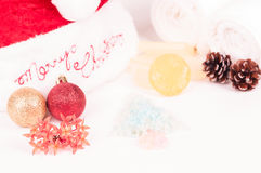 Christmas spa getaway Royalty Free Stock Images