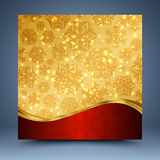 Red and gold christmas abstract background Royalty Free Stock Photos