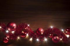 Christmas Tinsel Lights Background Stock Image