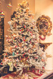 Christmas tree decorated with toys Royalty Free Stock Image