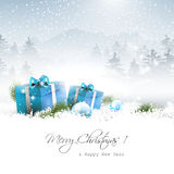 Christmas winter landscape Royalty Free Stock Images