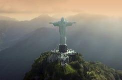Christus de Verlosser in Rio de Janeiro - Brazilië Royalty-vrije Stock Afbeelding