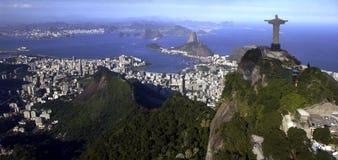 Christus de Verlosser - Rio de Janeiro - Brazilië Stock Fotografie