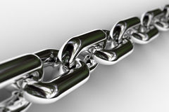 Chrome Chain Royalty Free Stock Images